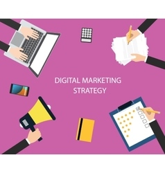 digital marketing strategy vector image