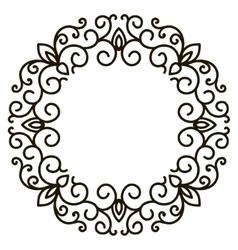 Elegant frame banner floral elements vector