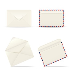 Envelopes icon on white background vector image