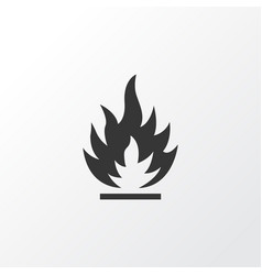 Flammable icon symbol premium quality isolated vector
