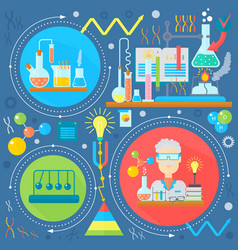 Flat design concept of science and technology vector