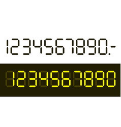 Flat design digital numbers set isolated on white vector
