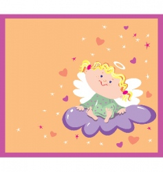 girl angel vector image vector image