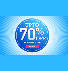 Great sale discount banner for marketing vector