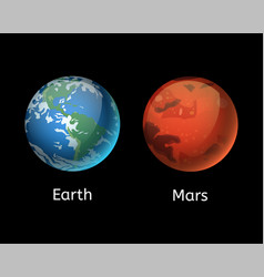 high quality mars planet galaxy astronomy earth vector image