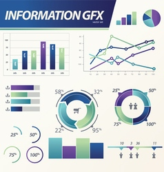 Info graphics Business e commerce statistic vector image vector image