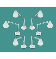 Isometric desk lamp vector