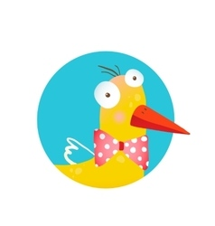 Kids Duck Fun Circle Icon vector image vector image