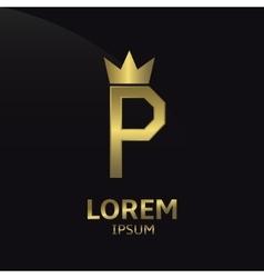 Letter p logo vector