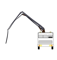 Machine concrete pump vector