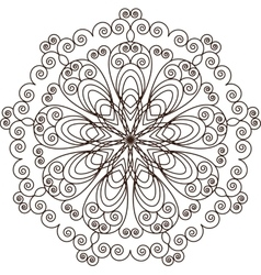 Mandala Vintage decorative elements Hand drawn vector image