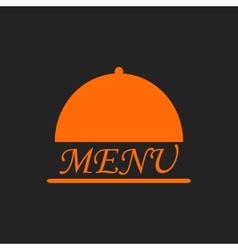 Menu text in orange cloche on black vector image