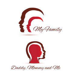 my family icons vector image vector image