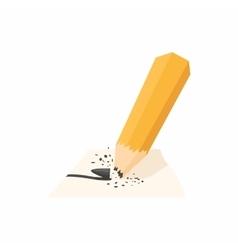 Pencil with a broken rod icon cartoon style vector