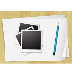 Photo and papers vector image