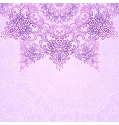Pink ornate vintage wedding card background vector image