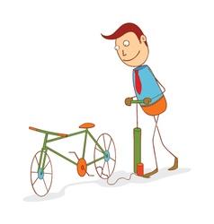 Pumping a bike wheel vector