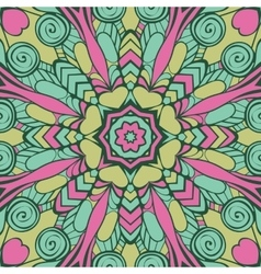 Seamless pattern with mandala vector image vector image