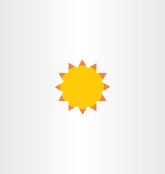 sun abstract icon sunshine symbol vector image