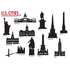 US cities vector image