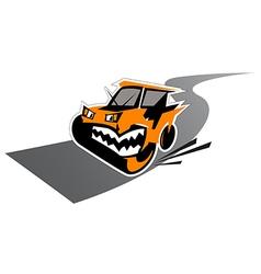 Waggish road paver vector