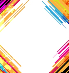 Abstract colorful frame design vector