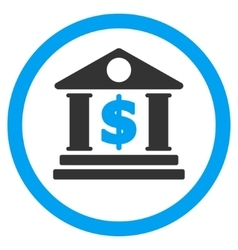 Dollar bank rounded icon vector