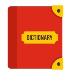 Book dictionary icon flat style vector