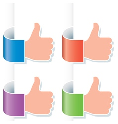 Thumb up gesture vector