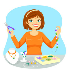 Making jewelry vector