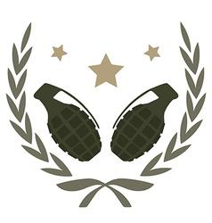 2 grenades emblem vector