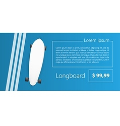 Ad layout for longboard vector