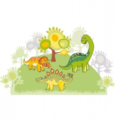 Dinosaur collection vector