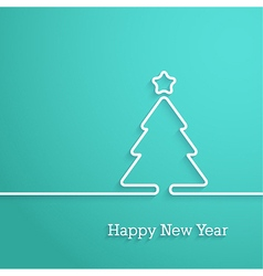 Happy new year paper postcard vector