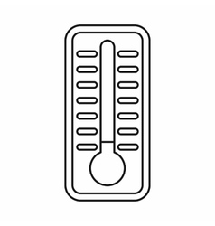 Cold thermometer icon outline style vector