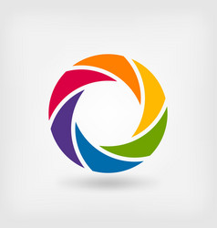 abstract symbol rainbow circle vector image vector image