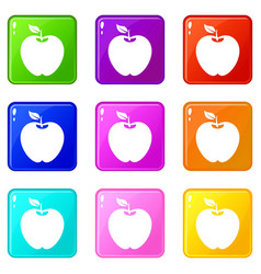 apple set 9 vector image vector image
