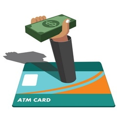 Atm and money vector