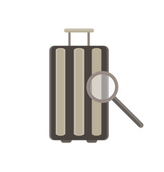 baggage flat icon luggage travel bag isolated vector image