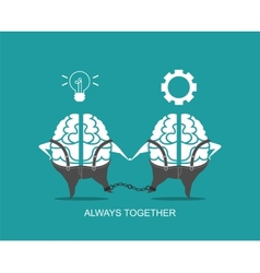Business concept of brain vector