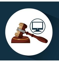 Business finacial judge gavel icon design vector