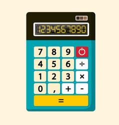 Calculator flat design icon vector