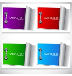 colorful labels set vector image