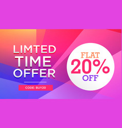 Colorful limited time sale offer discount deal vector