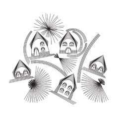 Composition of house vector image vector image