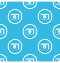 Euro bill sign blue pattern vector image
