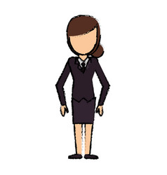 Female faceless standing character image vector