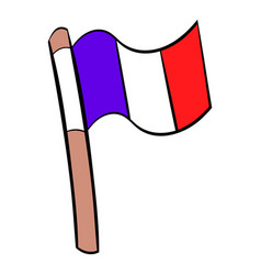 flag of france icon cartoon vector image