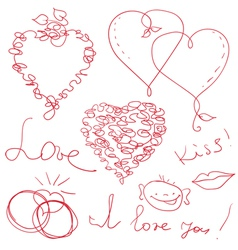 funny valentine design vector image
