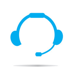 headset icon on white background headset symbol vector image vector image